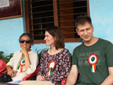 Independence day celebration at Women's Training Centre and School with guests from Australia and France